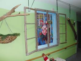 Verwendung der alten Fenster als Dekofenster